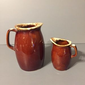 Other - Vintage Hull Brown Drip Glaze pitchers